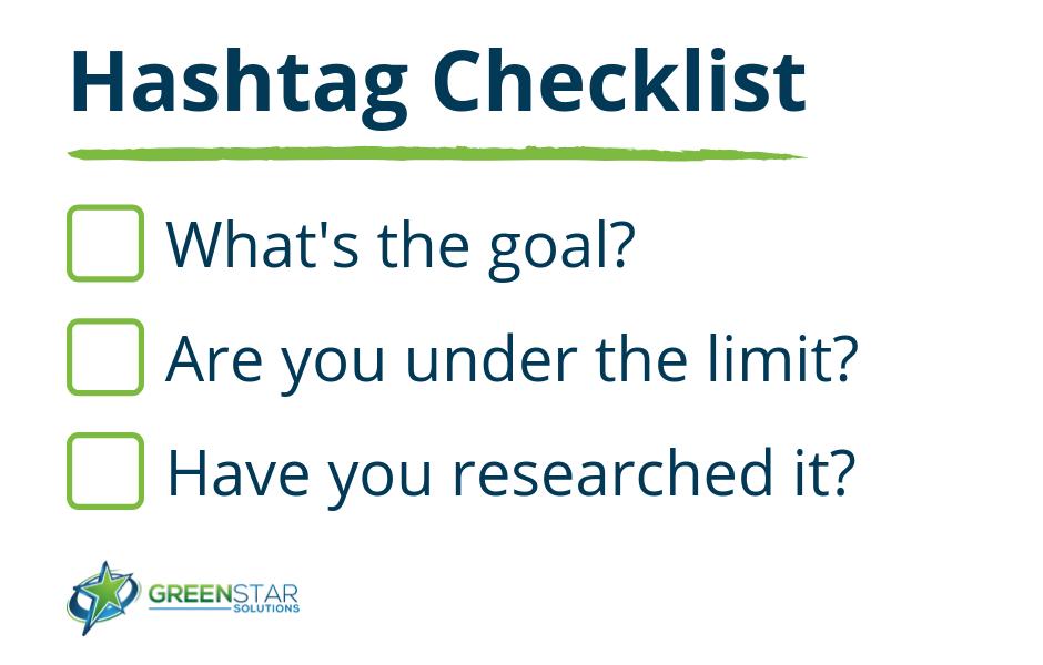 hashtag checklist