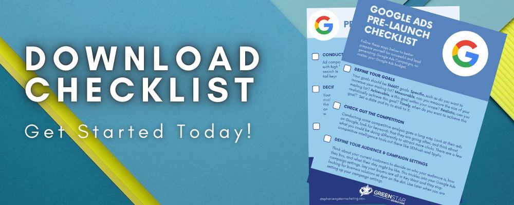 Google Ads pre-launch checklist