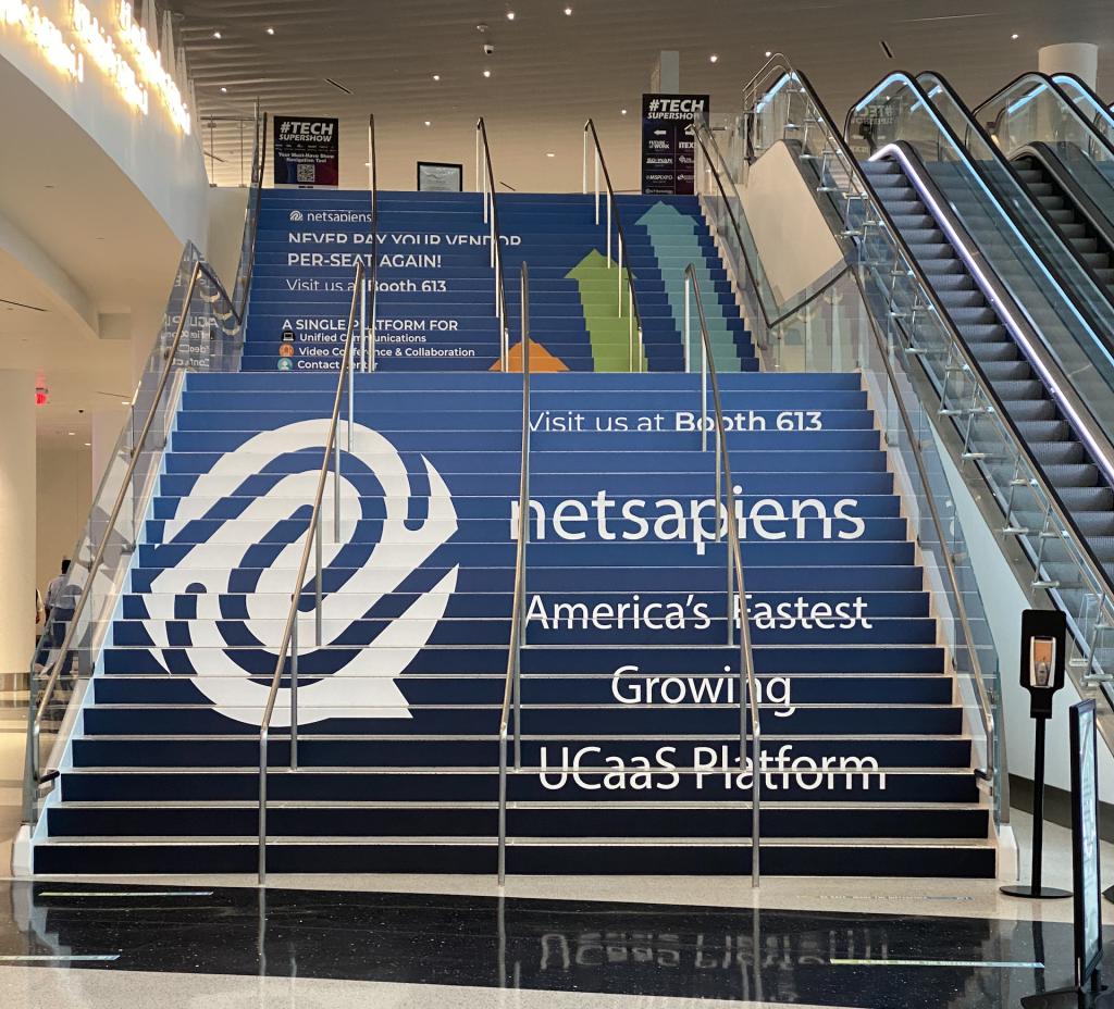 ITEXPO 2021 NetSapiens Stair Graphic
